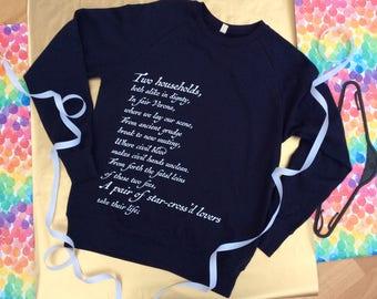 Shakespeare's Romeo and Juliet Sweatshirt