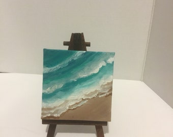 5 x 4 magnet of watercolor storm off the shore of Marco Island FL