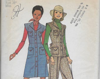 Simplicity 6527 - Sewing Pattern for Short Jumper or Top and Wide-Leg Pants