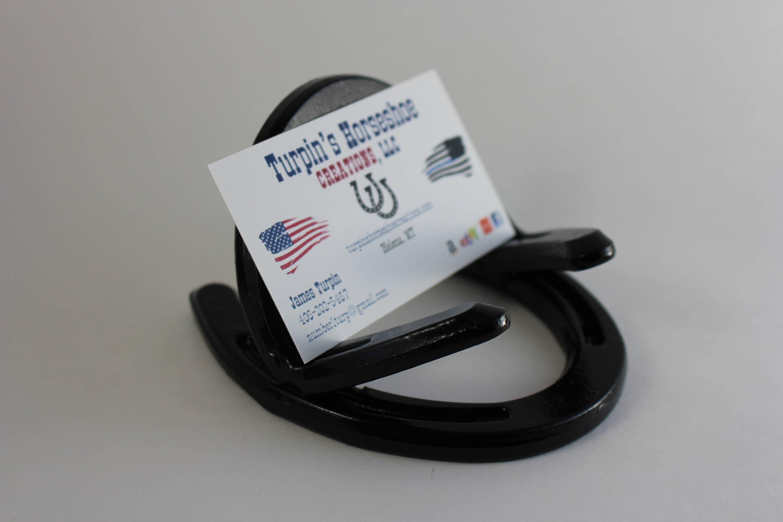 Horseshoe business card holder colourmoves