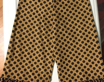 Black/Gold Ruffled Pants