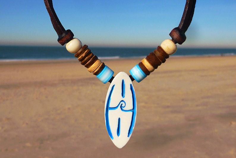 dcce32760a Surferkette Herrenhalskette Surfbrett Surf Welle | Etsy