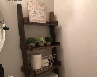 Toilet Ladder Shelf Etsy