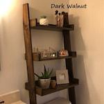 Over the Toilet Ladder Shelf