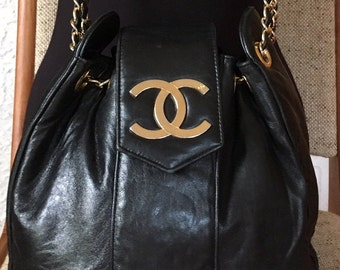 ad1156e5672baf Chanel Quilted Lambskin Bucket Bag