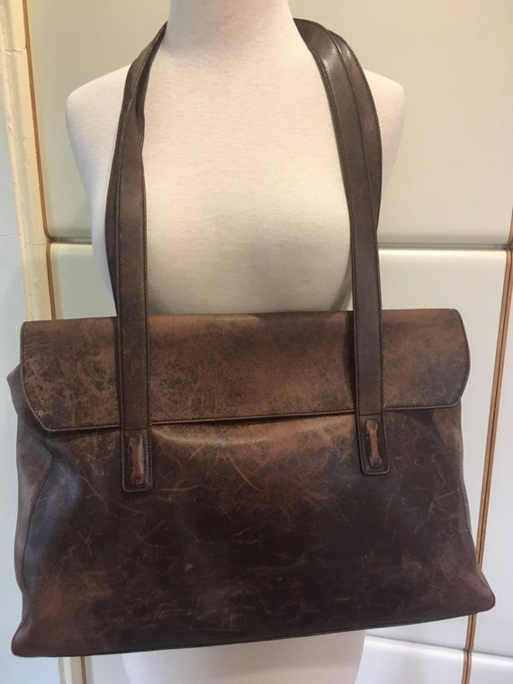 Vintage Coach 60s/70s Genuine Brown Leather Should