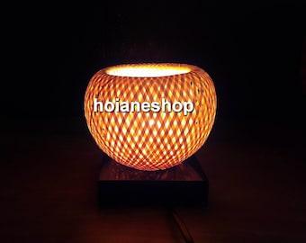 Set Of 2 Pcs Bamboo Lamp 20cm For Home Decor Wedding Etsy