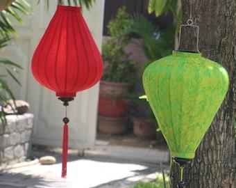many color Cake shape Lot of 4 pcs Vietnamese Silk Lanterns for wedding decor