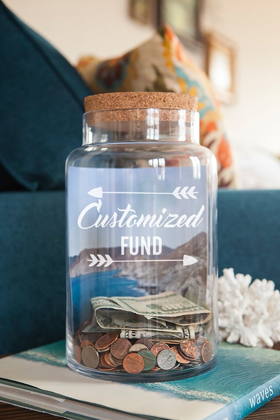 money pot etc Holiday fund vinyl decal For crafts