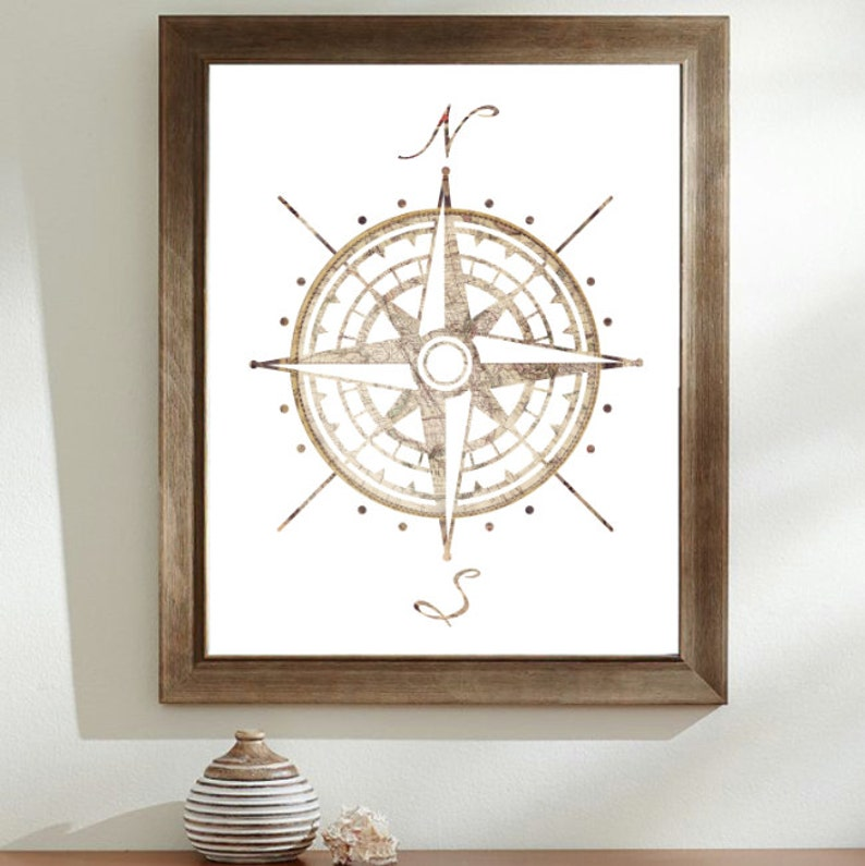22fa1beb1878b Compass Rose Map Illustration | Compass Old Map | Cartographers Map |  Compass Rose Silhouette Art print | Colourful Silhouette | Hipster Art