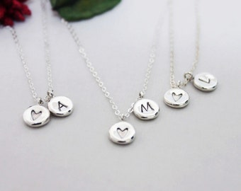 Initial Charm Necklace, Valentine's Gift, Christmas Gift, Monogram & Name Necklaces, Personalized  Custom Necklace, Valentine's gift