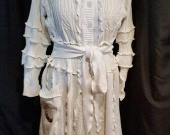 """Custom Fairy Coat Long """"Moon Goddess"""" -Sweater coat-Bohemian- Custom"""