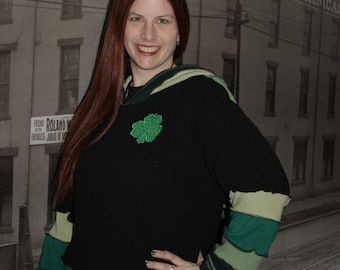 "Custom Irish Fairy Hoodie ""Lucky Lace Shamrock"" custom"