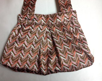 The Chocolate Retro: Chocolate and Pink Shoulder Purse