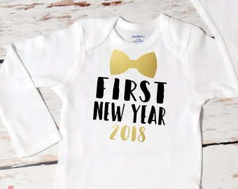 Baby Boy First New Year Onesie | First New Year | Baby Boy New Year Outfit | Happy New Year Outfit for Boy | Cake Smash Outfit | 140