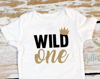 1bfa9d03d First Birthday Boy Wild One Gerber Onesie Bodysuit | Boy's First Birthday  Bodysuit | Boy First Birthday Outfit | Cake Smash Outfit | 364