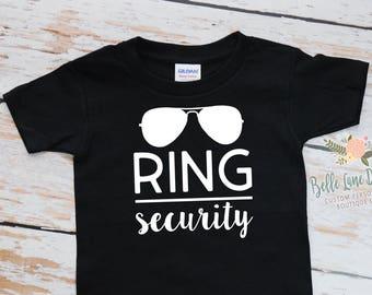 Toddler Ring Security Tshirt | Ring Bearer Gift | Ring Bearer Shirt | Ring Bearer Gift Ideas For Boys | King of the Ring | 380