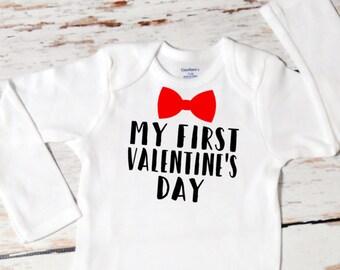 Baby Boy My First Valentine's Day Onesie | First Valentine's Day | Baby Boy Valentine Outfit | First Valentine Outfit for Boy | 164