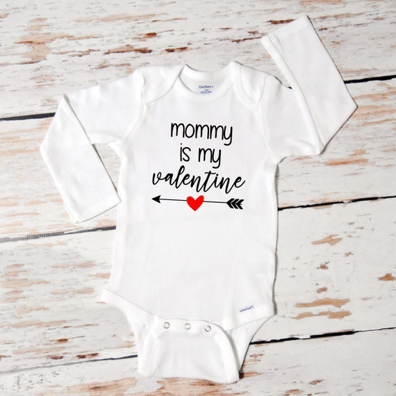 Valentine/'s Day onesie Baby Boy Valentine Onesie Mommy is my Valentine baby boy Onesie Baby Boy Onesies