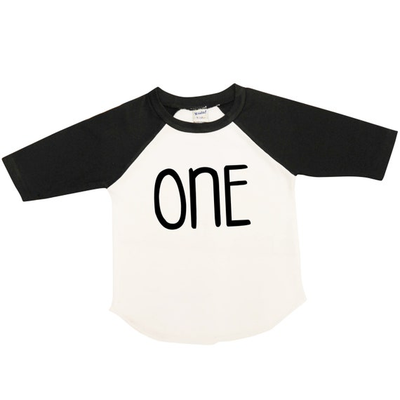 First Birthday Boy Shirt Raglan ONE Tee