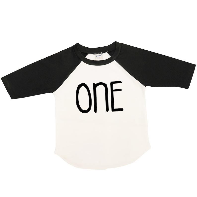 First Birthday Boy Shirt Raglan ONE Tee