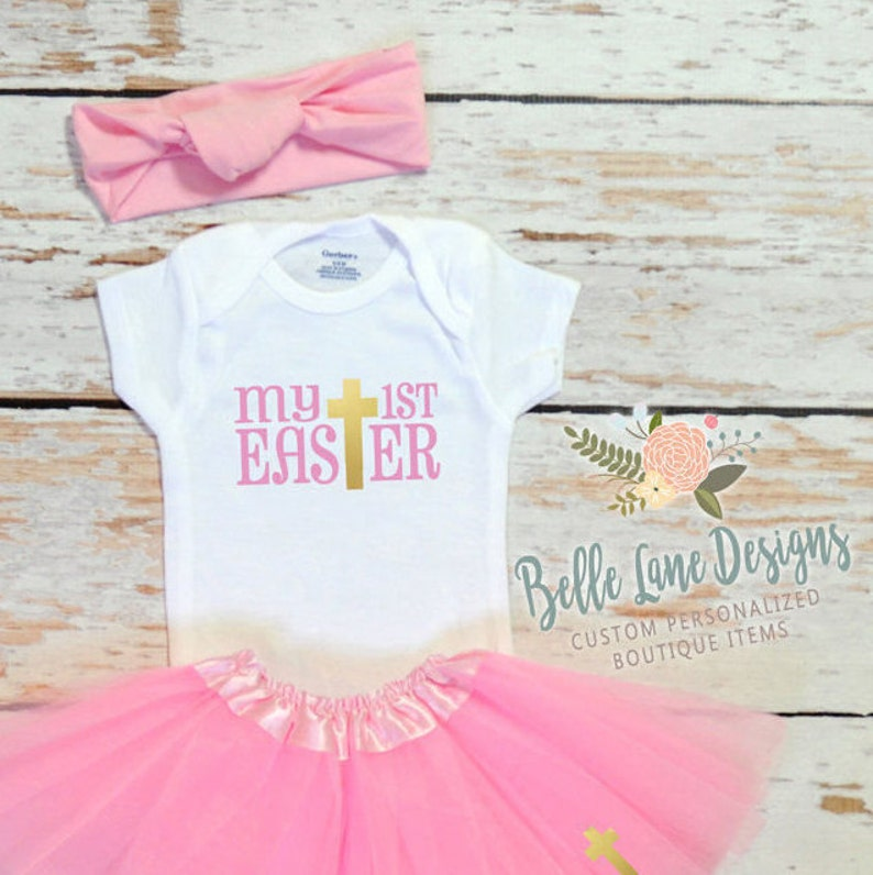 564277ea215f Girl First Easter Onesie Outfit Easter Onesie Baby Girl   Etsy