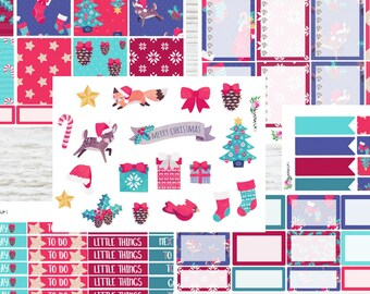 Planner stickers 6 sheet Christmas kit for Erin Condren and Happy planner