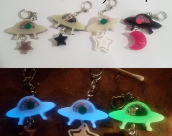4 pcs per one combination see photos Your Choice of Options Provided or Customize your Own UFO Abduction acrylic laser cut cabochon