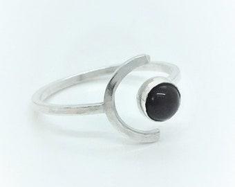 f42d428d2e Sterling Silver Gemstone Ring. Handmade, Contemporary, Minimal Ring
