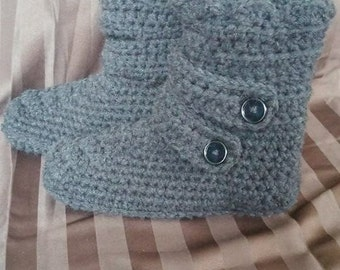 Women's slipper boots, crochet slippers, crochet slipper boots, women's slippers, button boots, fashion slipper boots, women's boots