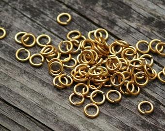 Raw Brass Jump Rings JumpRings, 20g, 4mm, 200pcs