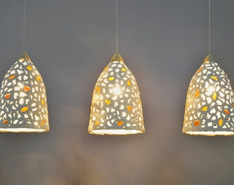 10 Off Ceiling Light 3 Ceramic Hanging Lights Ceiling Etsy