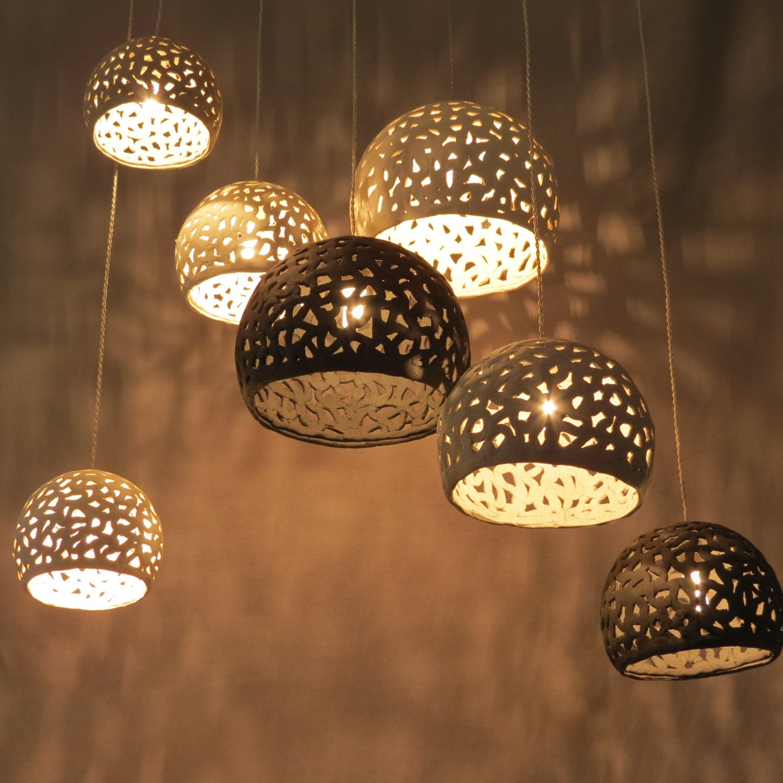Lighting hanging chandelier 7 ceiling shades pendant lighting fixture ceiling lights modern chandelier ceramic lighting