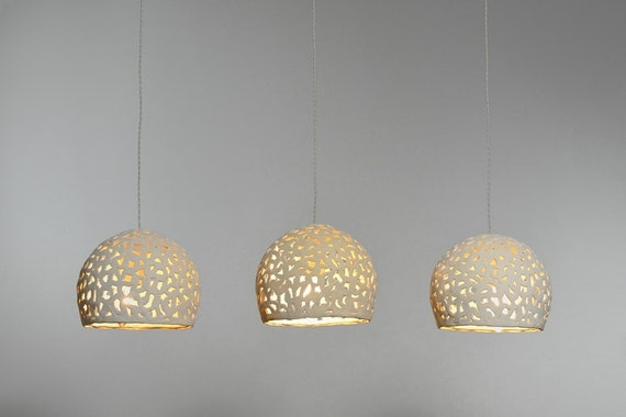 10 off ceiling light 3 ceramic hanging lights ceiling etsy image 0 aloadofball Image collections
