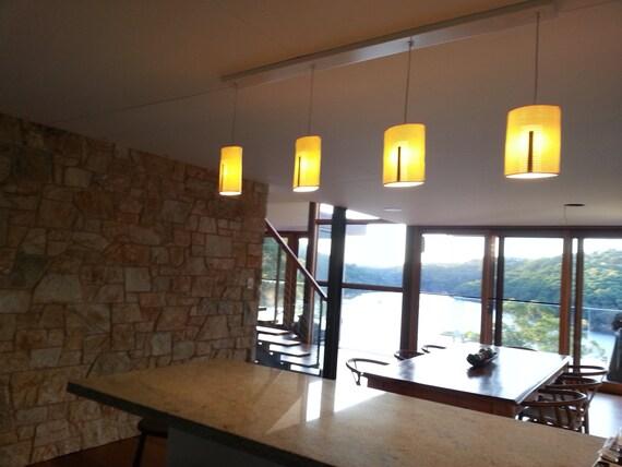 3 Unique Modern Pendant lights .Kitchen Island lighting. White and Gold  Porcelain luster of Lights