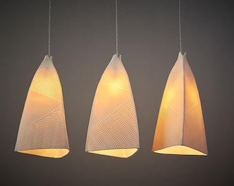 3 Shades Hanging Light Fixture  Lighting. Elegant Contemporary Kitchen Chandelier.