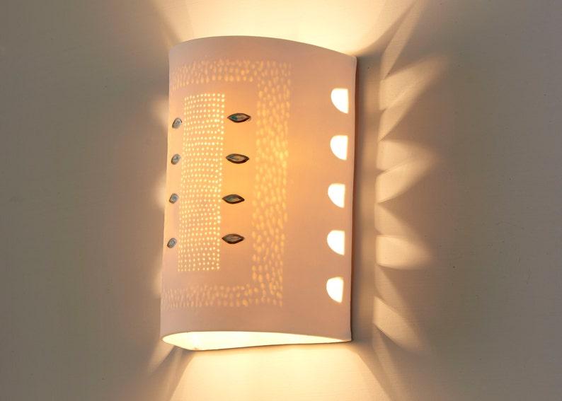 Illuminazione della parete salotto di luci applique da etsy