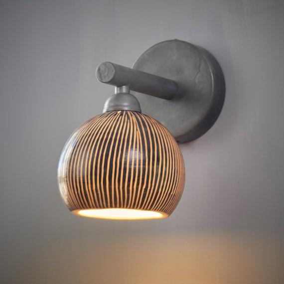 Bedside Lamp. Wall Lighting. Bedroom Sconce. Wall Mount Light. Designer  Sconce. living room Lamp. Porcelain Wall lamp. Bath room light.