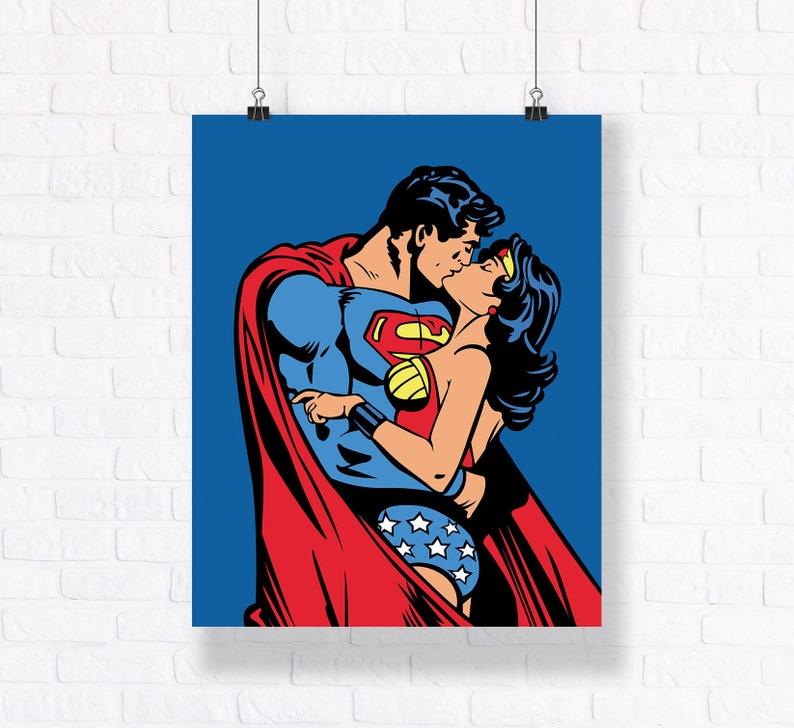 cd013269931e True Love: Superman and Wonder Woman Kissing Customizable image ...