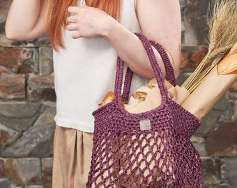 Weaverbird • Market Bag • Crochet • Colour: CURRANT