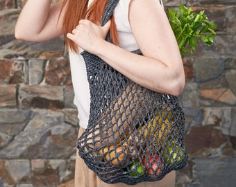 Weaverbird • Market Bag • Crochet • Colour: ELDERBERRY