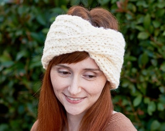 Dewdrop • Head Warmer • Chunky Knit • Colour: VANILLA