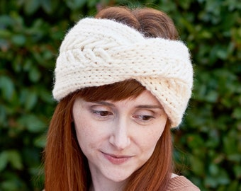 Pine Ridge • Head Warmer • Chunky Knit • Colour: VANILLA