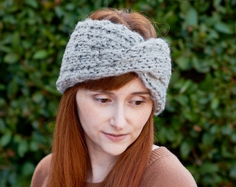 Dewdrop • Head Warmer • Chunky Knit • Colour: EARL GREY
