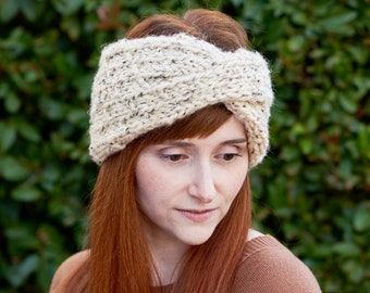 Dewdrop • Head Warmer • Chunky Knit • Colour: OATMEAL