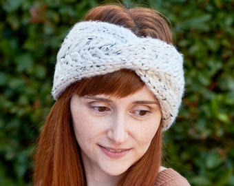 Pine Ridge • Head Warmer • Chunky Knit • Colour: COCONUT