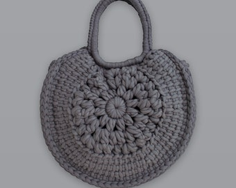 Sunburst • Tote Bag • Crochet Chunky Knit • Colour: SHALE
