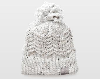 Pine Ridge • Beanie • Chunky Knit • Colour: COCONUT