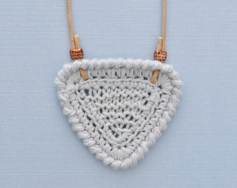 Shortbread • Necklace • Knitted Pendant • Colour: MISTY