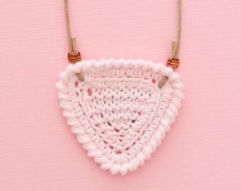 Shortbread • Necklace • Knitted Pendant • Colour: BALLET PINK